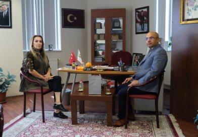 TÜİK Bölge Müdürü Şenol Deniz, Elmas Aslan'ı Ziyaret Etti